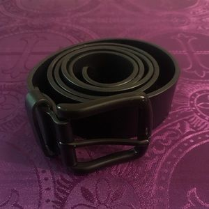 Other - Black leather belt